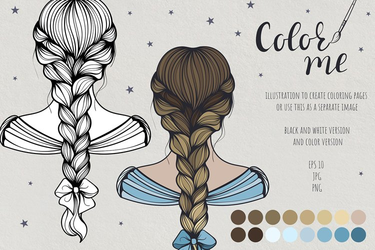 Color me. Women's hairstyle #1 example image 1