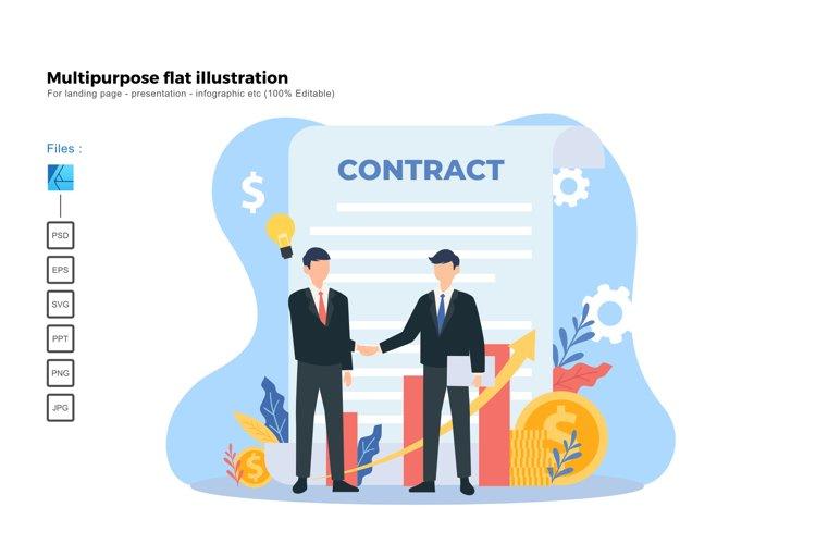 Flat illustration contract