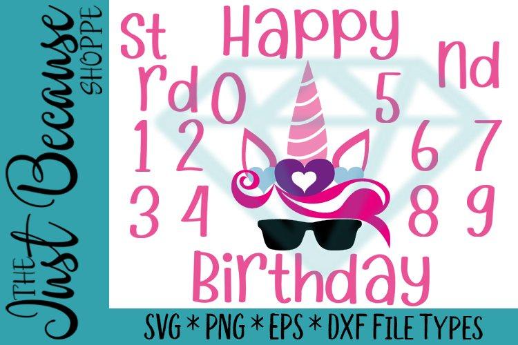 Unicorn Birthday Bundle SVG Files - 0079