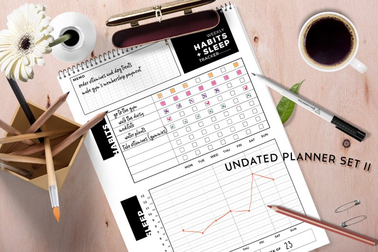 Undated Planner Set II - Daily, Weekly, Password tracker...
