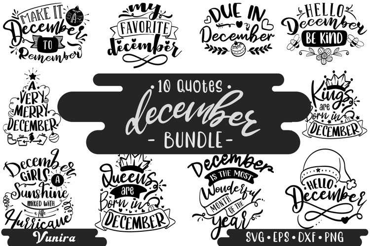 10 December Bundle | Lettering Quotes example image 1