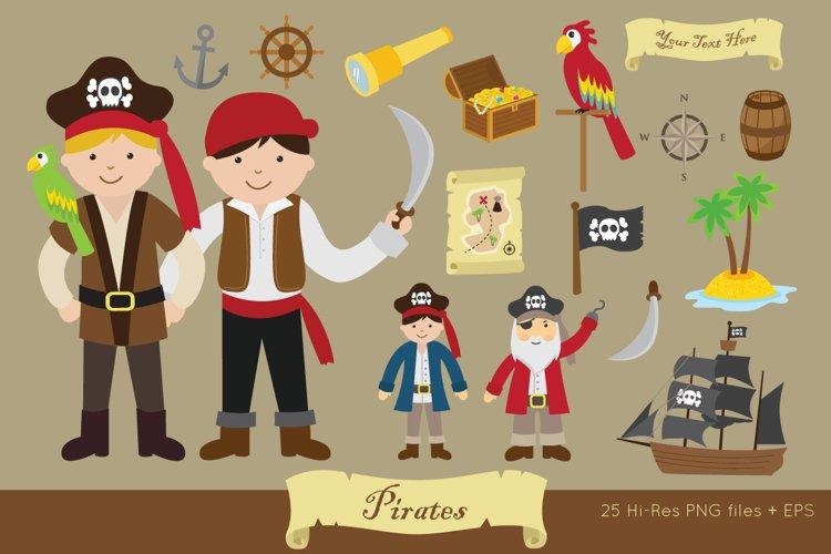 Pirates Clipart Vector Png 347096 Illustrations Design Bundles