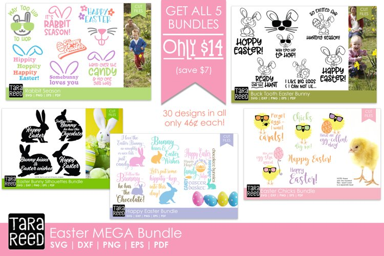 Easter MEGA Bundle - Easter SVG and Cut Files for Crafters