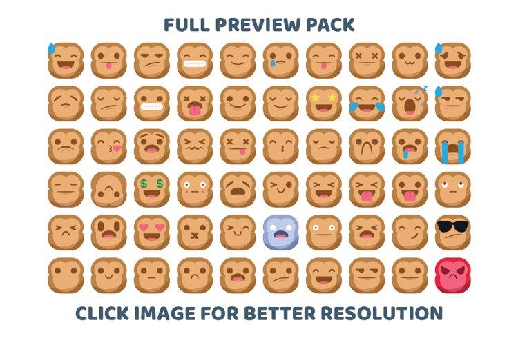 Cute Monkey Emojis example image 1