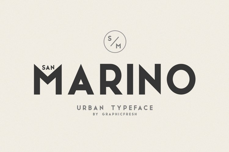 San Marino // Four Font Files example image 1