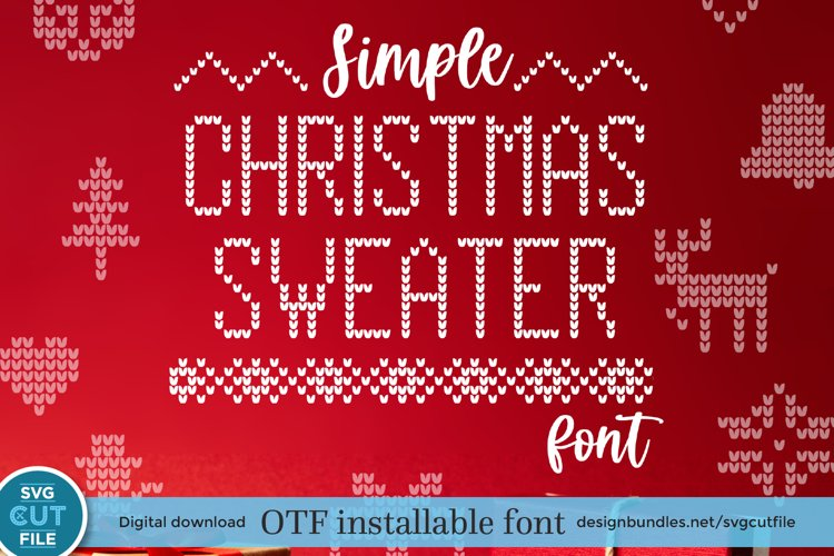 Christmas Sweater font, Ugly Tacky Christmas Jumper font OTF example image 1