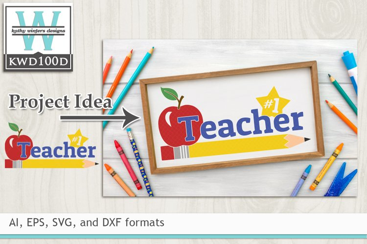 School SVG - #1 Teacher