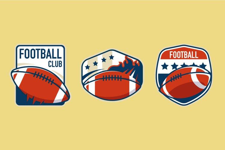 American Football Badge illustrations example image 1