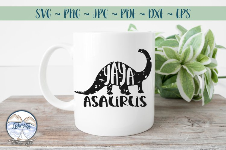 YAYASAURUS - Family SVG for Grandmothers example image 1