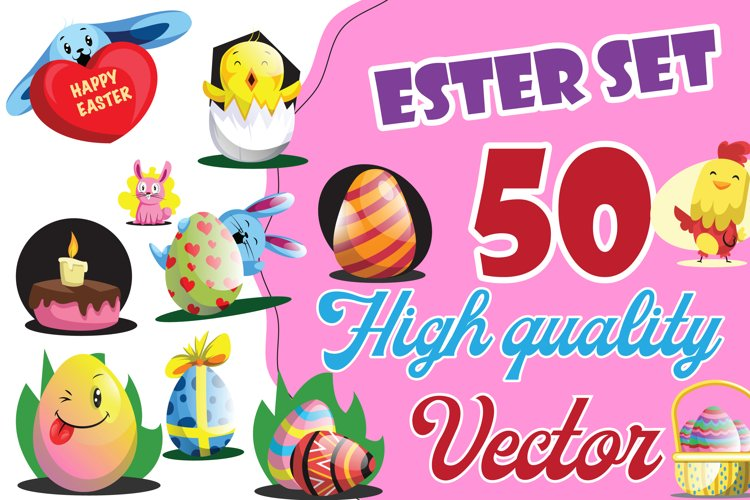 50x Easter illustrations collection