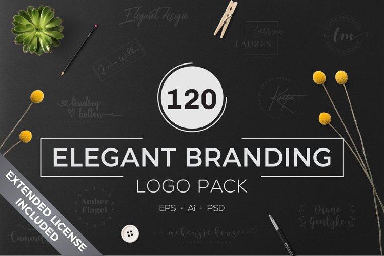 120 Elegant Branding Logo Pack example image 1
