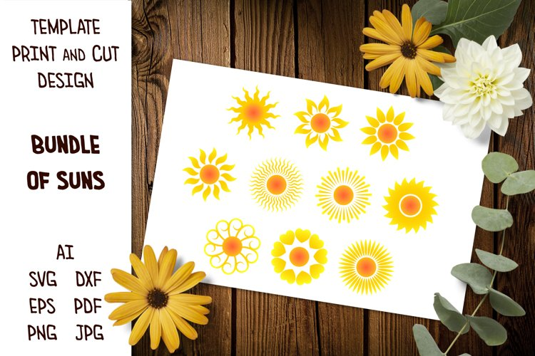 Sun SVG, Sun Silhouette SVG, Sun Clip Art, Sun Sublimation example image 1