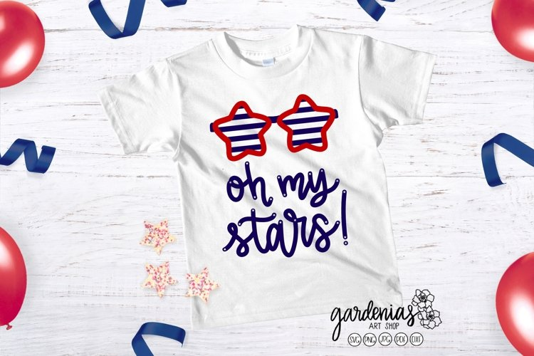 Oh My Stars SVG   Star Sunglasses Cut File   4th of July
