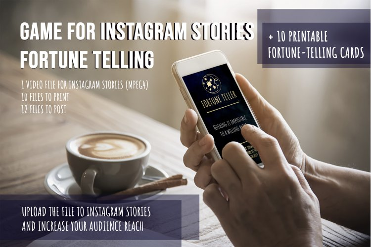Animated Playful Instagram Stories Fortune telling printable example image 1