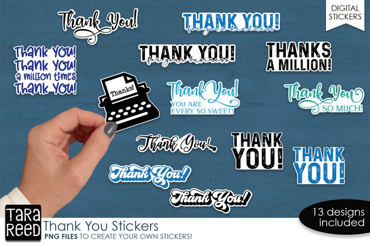 Sticker Bundle PNG - Thank You Sticker Pack example image 1