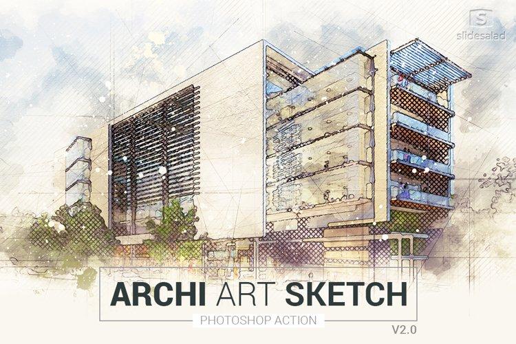Archi Art Sketch Photoshop Action V2 example image 1