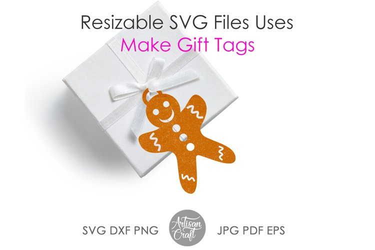 Gingerbread cookies SVG, laser cutting files, ornament example 2