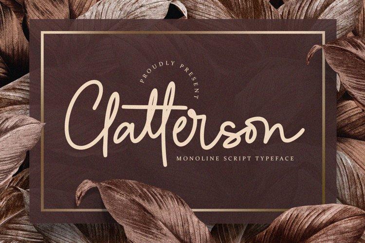 Clatterson - Monoline Script example image 1