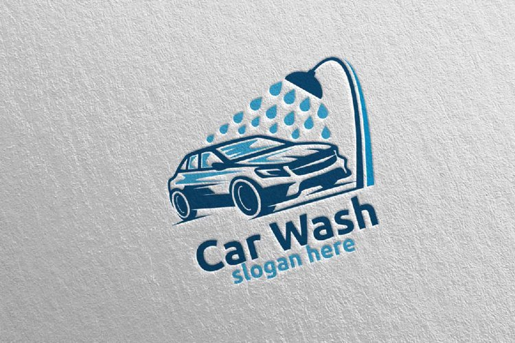 Car Wash Logo, Cleaning Car, Washing and Service Logo 11