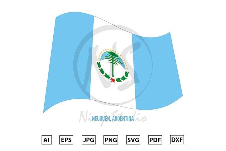 Neuquen Flag Waving Vector. Flag of Argentina Provinces example image 1