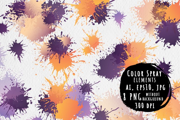 Color spray elements example image 1
