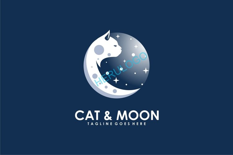 Cat and Moon example image 1