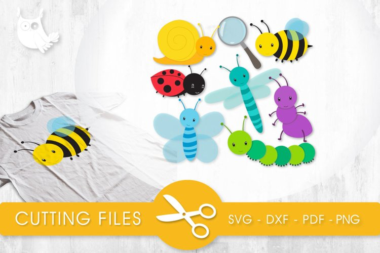Little Bugs cutting files svg, dxf, pdf, eps included - cut files for cricut and silhouette - Cutting Files SVG example image 1