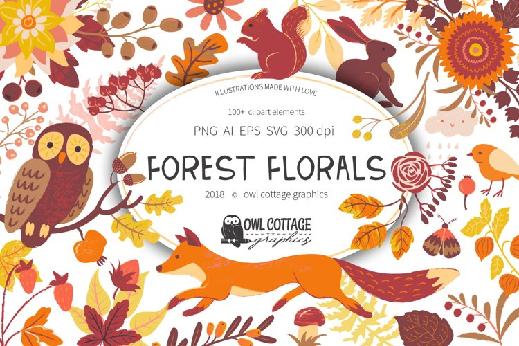 Forest Clipart Set- Vector and Raster Versions example image 1