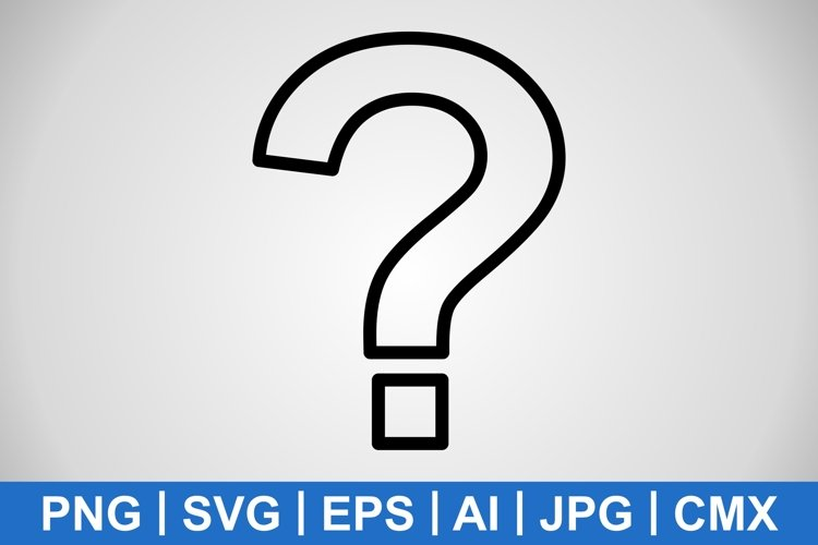 Vector Question Mark Icon example image 1