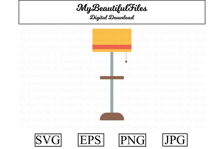 floor lamp SVG - Cute light SVG, EPS, PNG and JPG example image 1
