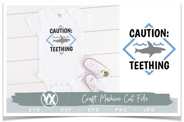 Caution Teething Shark SVG example image 1