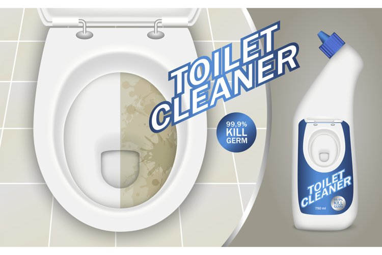 Toilet detergent concept background, realistic style example image 1