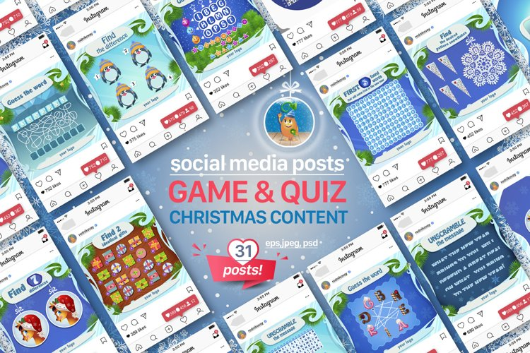 Social media post with a New Year and Christmas games example image 1