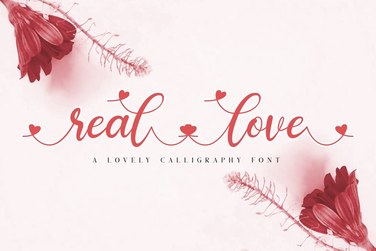 real love // a lovely calligraphy font example image 1