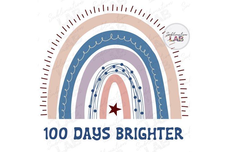 Download School 100 Days Brighter Sublimation Design Png File Rainbow 1121292 Sublimation Design Bundles