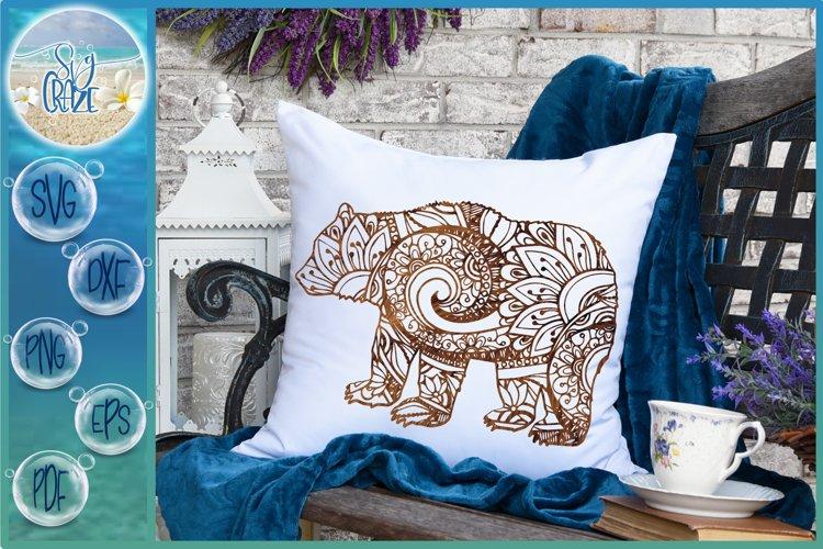 Bear Mandala Zentangle SVG Dxf Eps Png Cricut Silhouette example
