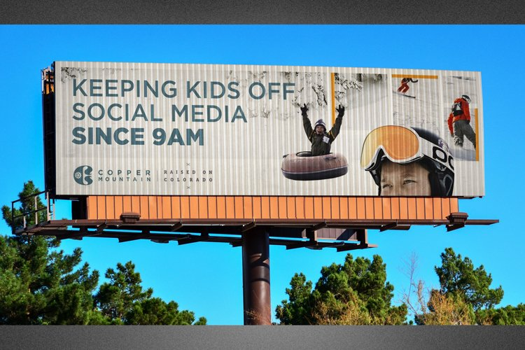 Corrugated Billboard Mockup Template example image 1