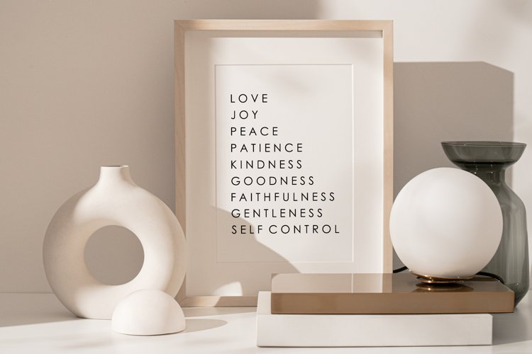 Fruit Of The Spirit, Scripture Wall Print, Love Wall Print example image 1