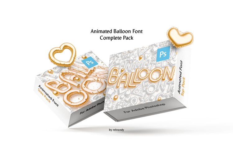 Animated Balloon Font Complete Pack