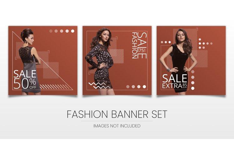 three modern, elegant sale banners for social media