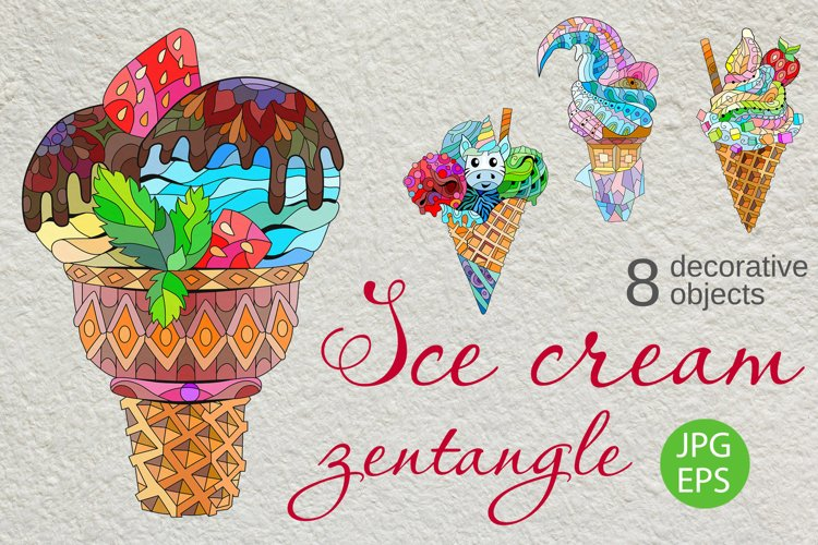 Zentangle ice cream