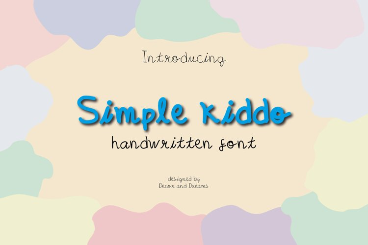 Simple Kiddo - Handwritten font example image 1