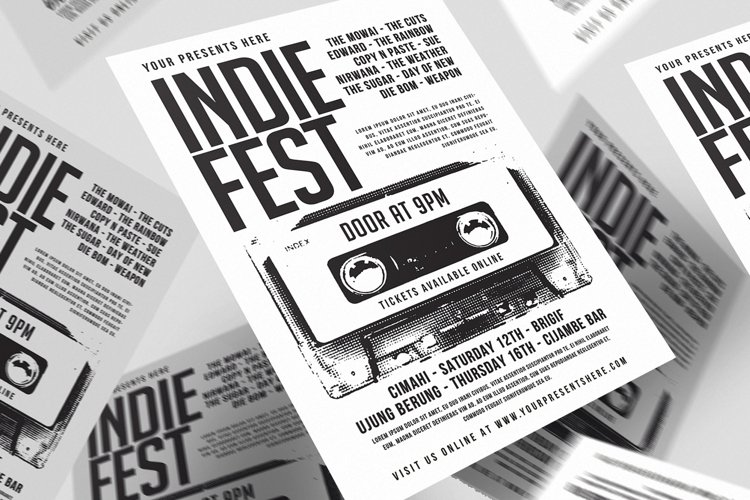 Indiefest flyer example image 1