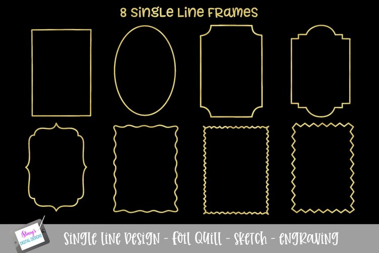 Foil quill - Single Line Frame Bundle - 8 frames
