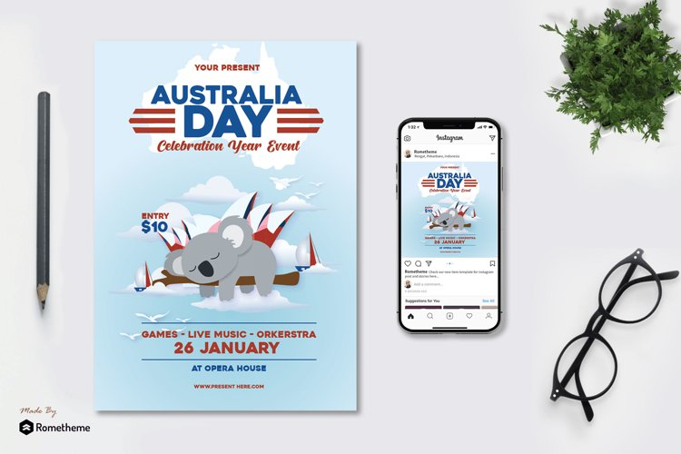 Australia Day - Flyer AS example image 1