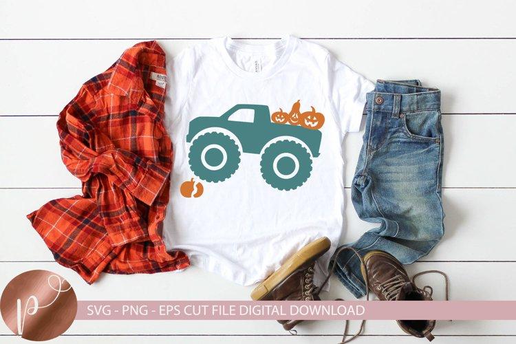 Fall Monster Truck Svg Png Eps Halloween Tshirt Design