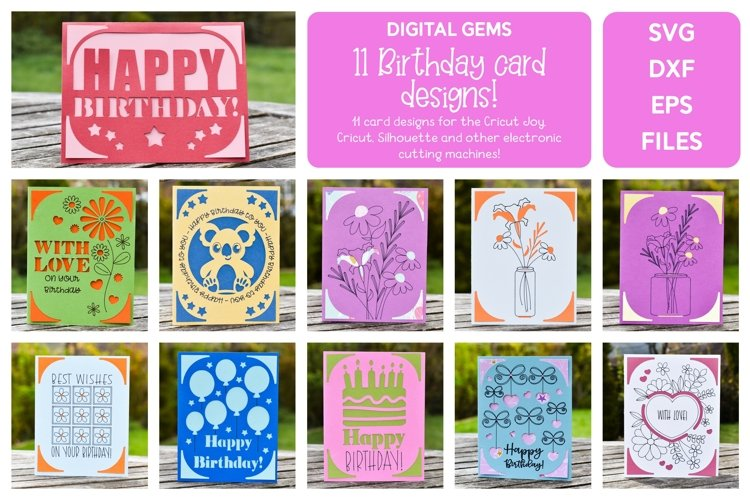 Birthday Card Bundle 2! Works with the Cricut Joy and more!