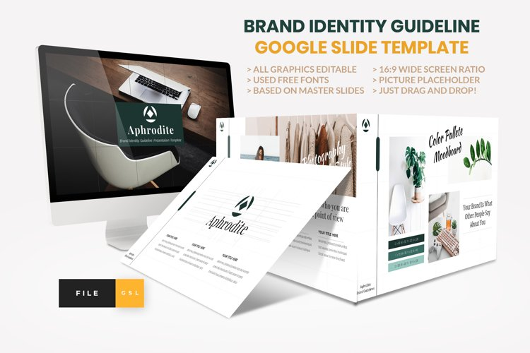 Brand Identity Guideline Google Slide Template example image 1