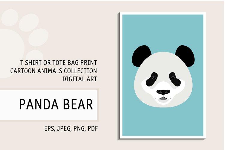 Panda Bear Print. Panda Bear Digital Art for T Shirt. Panda. example image 1