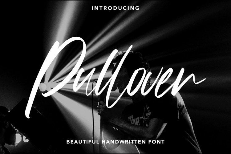 Web Font Pullover - Beautiful Handwritten Font example image 1